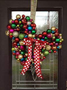 DIY Mickey Mouse Ornament Wreath and other Christmas decor