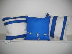 Second Wind Sails...more pillows made from recycled sail cloth