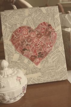 Postage Stamp Heart.  So many possibilities.