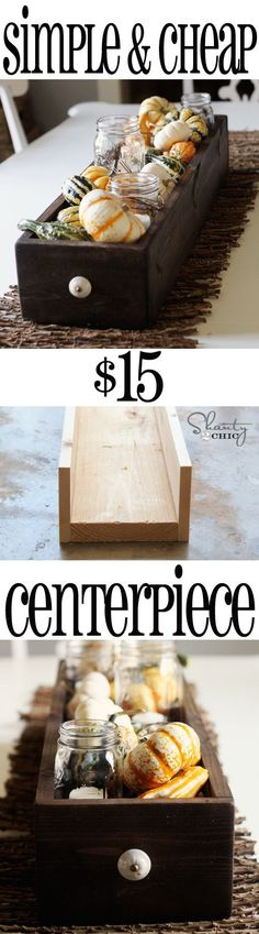 Easy DIY Thanksgiving Centerpiece Wood Box from Shanty-2-Chic.com // Decorate it for any holiday!!