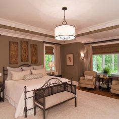 Sherwin Williams SW 7039 Virtual Taupe - Bedroom Color wall colors, sherwin william, bedroom colors, paint colors, master bedrooms, white bedding, dream houses, bedroom windows, bedroom designs