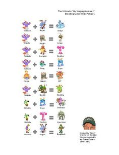 OFFICIAL BREEDING GUIDE for My Singing Monsters With Pictures