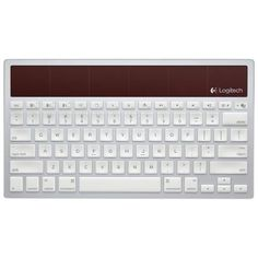 Logitech Wireless Solar Keyboard K760 for Mac/iPad/iPhone. Charges itself with lamplight or sunlight.