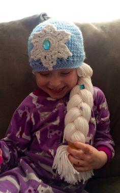 Elsa-frozen inspired hat