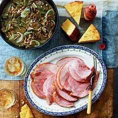 Good Luck Greens and Peas with Ham | MyRecipes.com