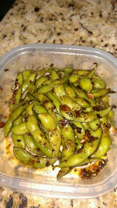 Home made spicy edemame