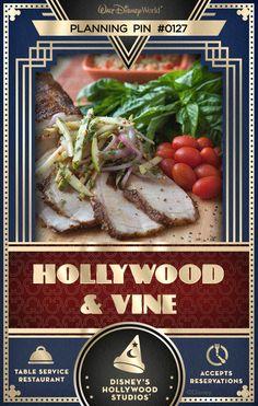 Walt Disney World Planning Pins: Hollywood & Vine at Disney's Hollywood Studios