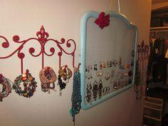 Jewelry holders on pinterest diy jewelry holder diy for Hobby lobby jewelry holder