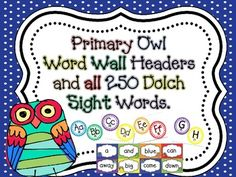 Primary Owl Themed W