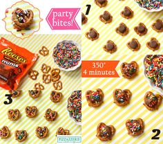 Reese's Pretzel Snack Bites! So easy! Also need to try with Rolos!