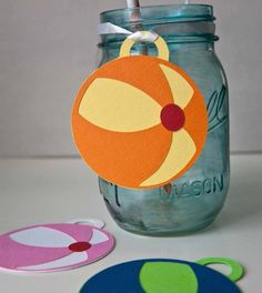 beach ball drink tags-omg love!