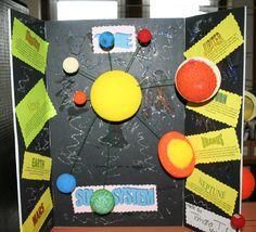 solar system elementari school, solar system, scienc project, pin, kid project, school solar, system project, kid learn, school project