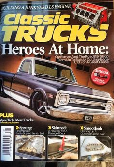 One of our favorite Roadster Shop projects that debuted at SEMA 2013, the Craftsman Chevy C-10 on Forgeline CF3C Concave wheels, is on the latest cover of Classic Trucks Magazine. Photo by McGaffin Digital Photography. See more at: http://www.forgeline.com/customer_gallery_view.php?cvk=959  #Forgeline #CF3C #notjustanotherprettywheel #madeinUSA #Chevy #C10