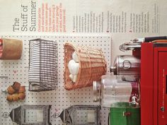 Baskets on a pegboard!