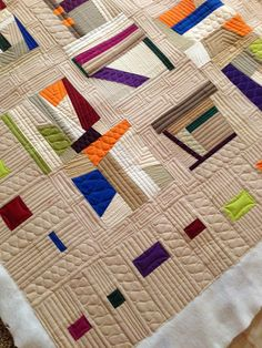 Angela Walters' quilting on Jackie's work.