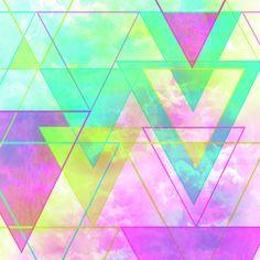 Neon Triangles    by Casale Designs