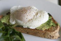 poached egg, avocado toast