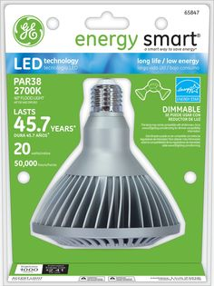 GE Energy Smart 75W Replacement (20W) Indoor and Outdoor PAR38 LED Bulb (Warm, Dim, Energy Star) $59.95