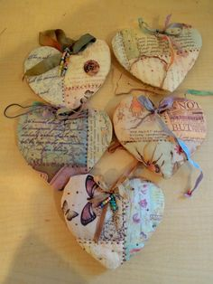 Hearts:  Quilted Lavender Heart Sachets.