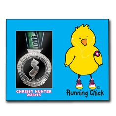 Runners Personalized Photo/Medal Frame - Running Chick -LT