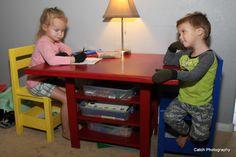 Kids Storage Table with extra storage