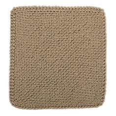 Bias Garter Stitch Square for Knit Your Cables Afghan Knitting Pattern
