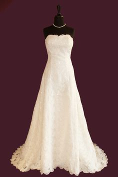 scoop-neckline all lace bridal gown
