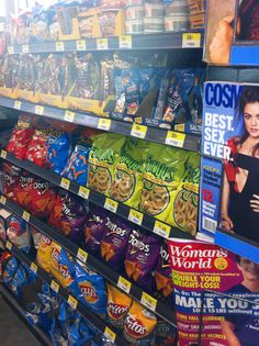 Supercenters like Walmart carry a lot of non-food merchandise that would be great at checkout. Isn't it a shame that most of the registers look like this, loaded with chips and cookies instead? (Walmart, Washington, DC, 9/14)
