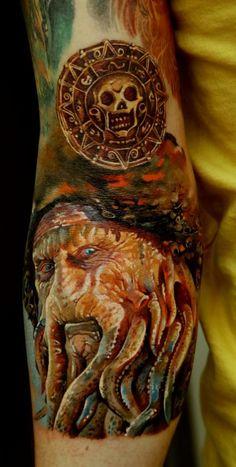 tattoos pirate, amazing disney tattoos, realistic tattoos, tattoo artists, coin, a tattoo
