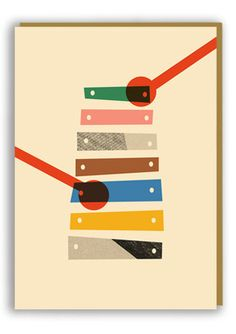 Anna Kövecses Xylophone Greetings Card