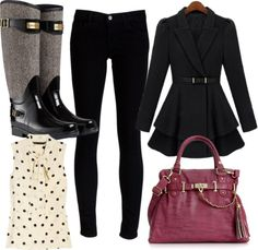 """""""Rain Boots 1"""" by fashboulevard on Polyvore"""