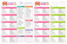 printable beach vacation packing list | Free Printable} Let's Go on a Trip! Packing List — Hello ...