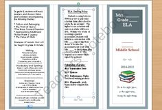 Open House pamphlet from Secondary on TeachersNotebook.com -  (2 pages)  - Tri-fold pamphlet (editable)