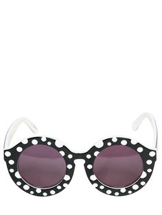 DOT ROUNDED ACETATE SUNGLASSES