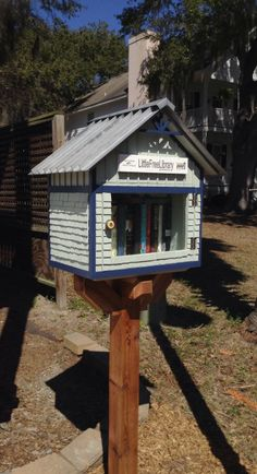 Patty Clark. Port Royal, SC. My husband Scot designed and built this library for our neighbors to enjoy in the lowcountry region of South Carolina. We live in a wonderful community and hope this is the first of many Little Free Libraries to come in Port Royal.