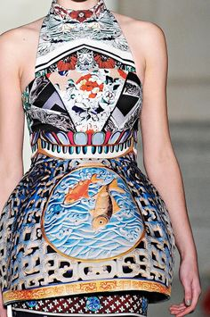 Fish theme on pinterest fish scales koi and fish for Koi fish dress