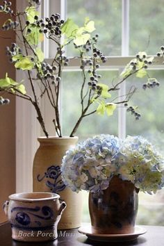 Rhapsody in Blue Etc.Hydrangeas and such...