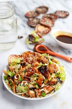 Chopped Asian BBQ Chicken Salad with Honey