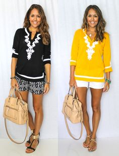 I love these black shorts! 8 Ways to Achieve Balance in an Outfit