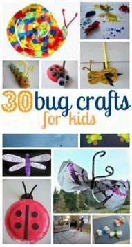 30 Bug Crafts For Kids -  Pinned by @PediaStaff – Please Visit http://ht.ly/63sNt for all our pediatric therapy pins