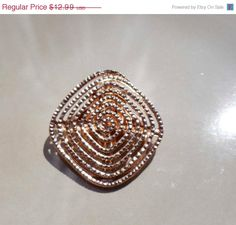 Gift Idea Sale Vintage gold Scarf Dress Clip by PaganCellarJewelry, $9.74