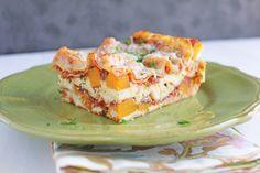 Lasagna with Roasted Butternut Squash and Spicy Marinara by adashofcinnamon #Lasagna #Butternut_Squash