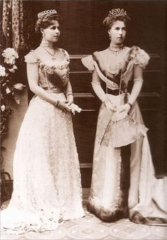 Crown princess Marie of Romania and sister Alexandra of Hohenlohe-Langenburg