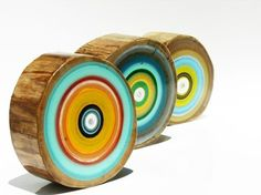 Concentric circle wood art by focuslineart