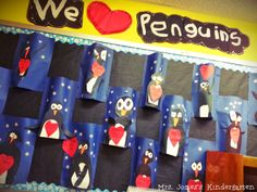 We <3 Penguins! Perfect bulletin board for Valentine's Day!
