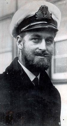 Queen Elizabeth II's future husband Prince Phillip during WWII.