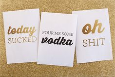 Project life cards for bad days