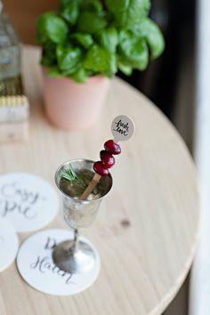 Fresh Love Wood Drink Bridal Shower Stir by yoursistheearthshop