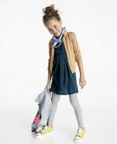 Little fashionista. love this outfit.