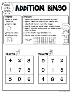 Math Games for Partners: Reproducible and Reusable Games for Reinforcing Skills {Grades 1-2} ... 26 games in all... great for math workshop, math centers, or as fun homework with a family member. (59 pages, $)